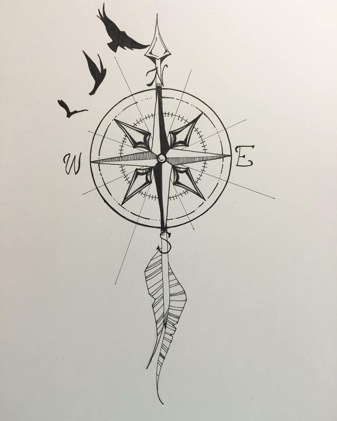 49++ Stunning Arrow compass tattoo drawing ideas in 2021