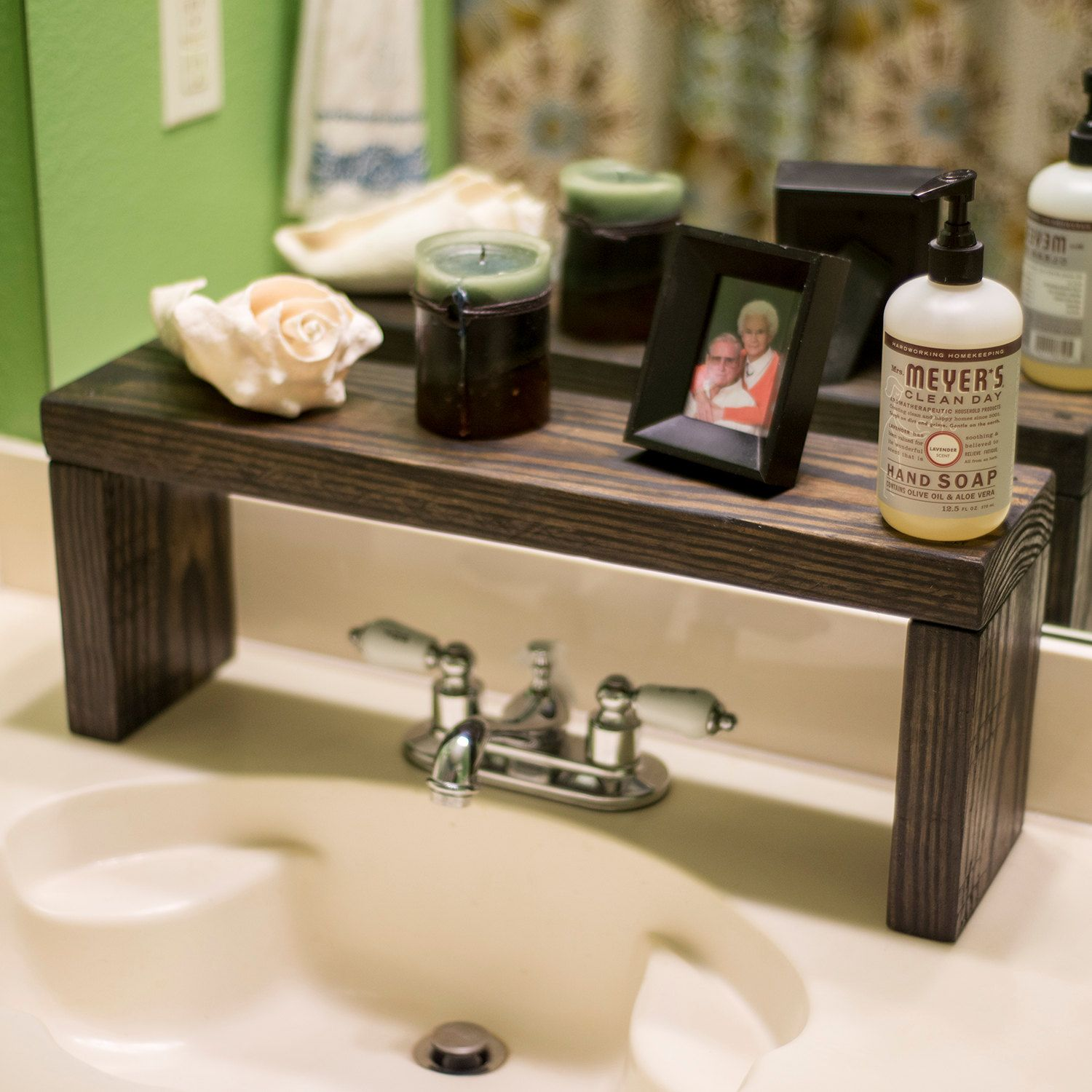 Diy Oil And Vinegar Shelf: Rustic Shelf Over The Sink Shelf Bathroom Shelf Farmhouse
