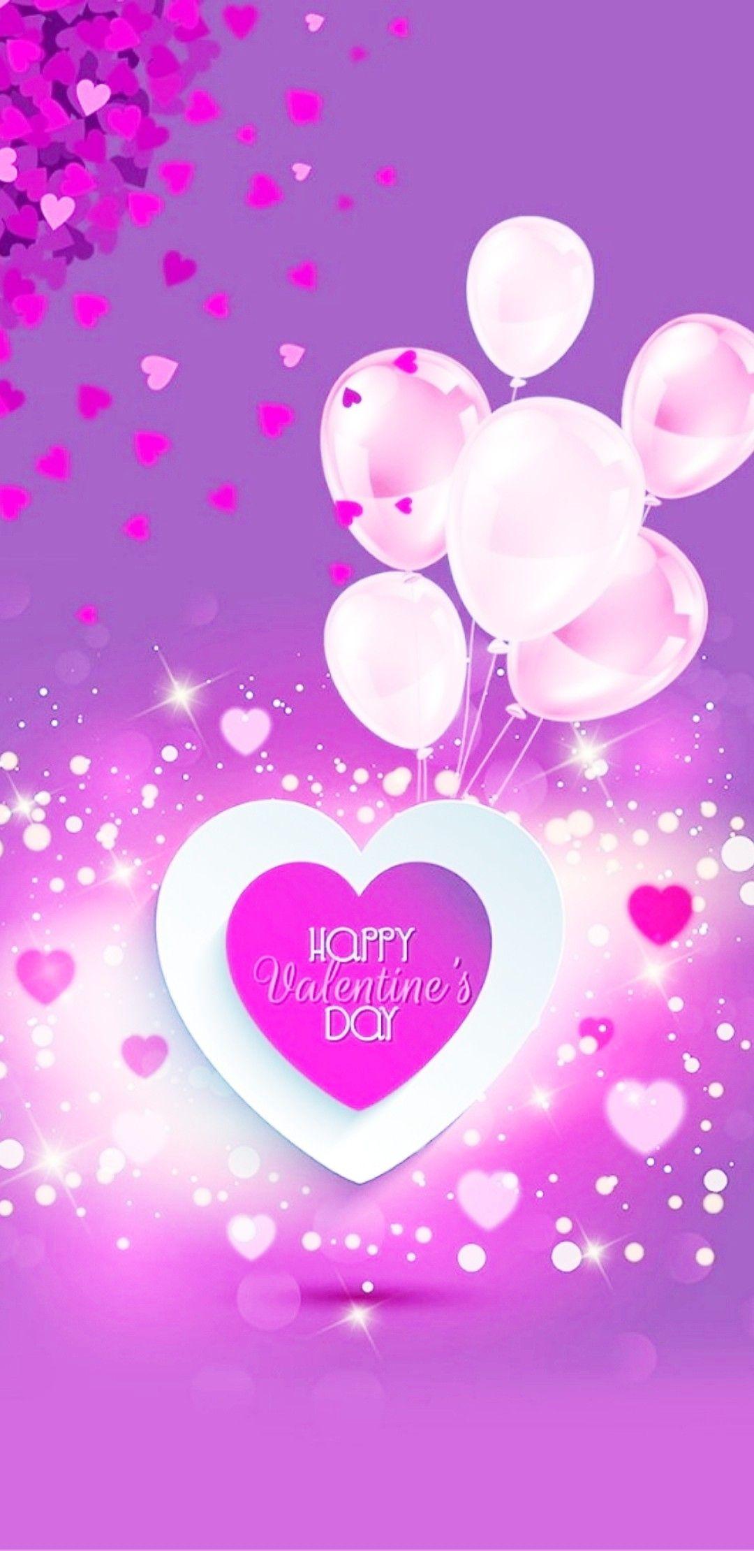 Happy Valentine S Day Valentines Wallpaper Pink Wallpaper Iphone Iphone Wallpaper Glitter Lock screen iphone cute valentines day