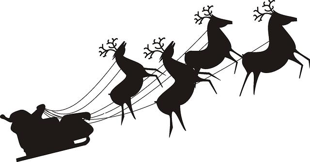 Kostenloses Bild Auf Pixabay Santa Claus Rentier Weihnachten Santa Sleigh Santa And Reindeer Santa Claus Images