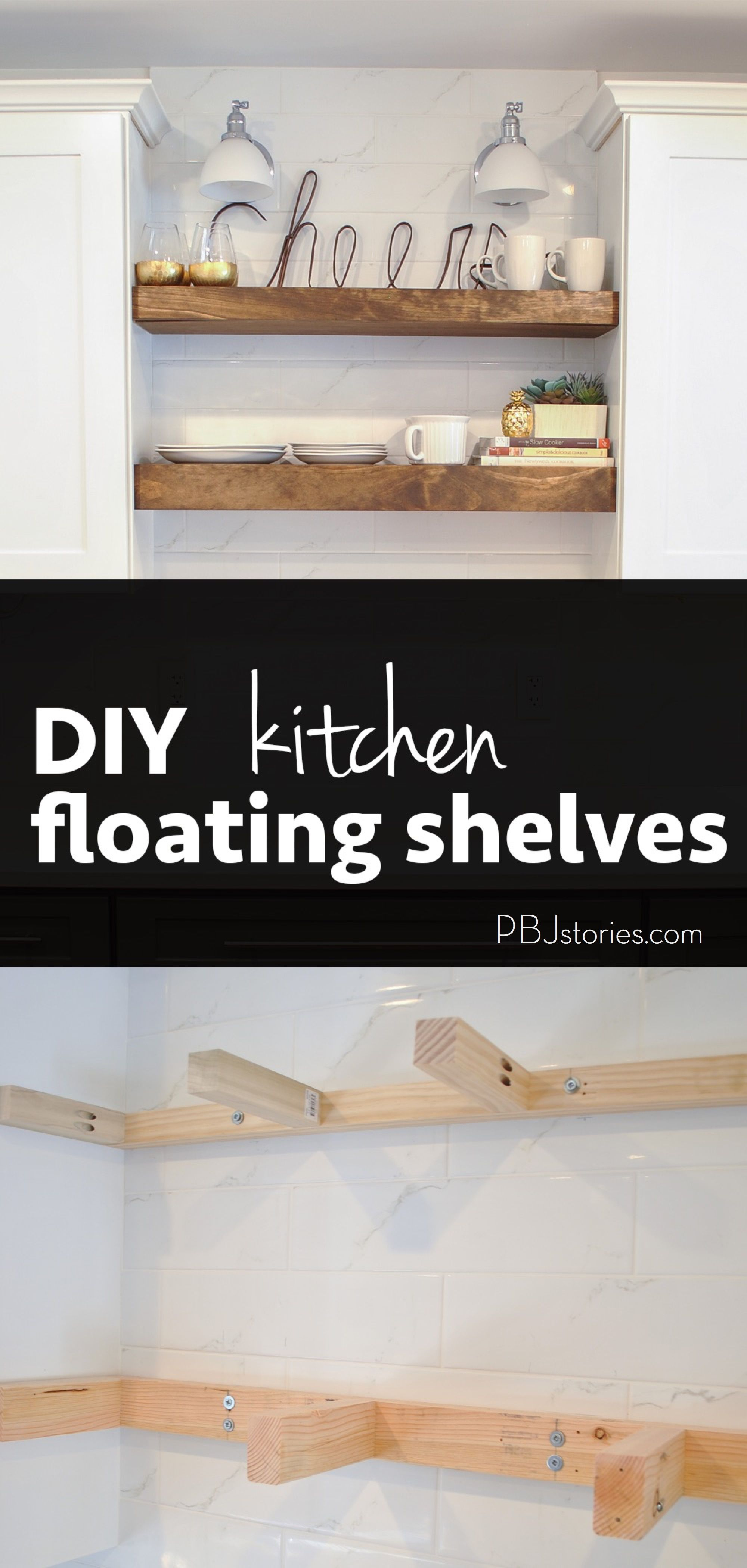 kitchen trends open shelves and an easy diy tutorial how to make them yourself i will definitely need this someday