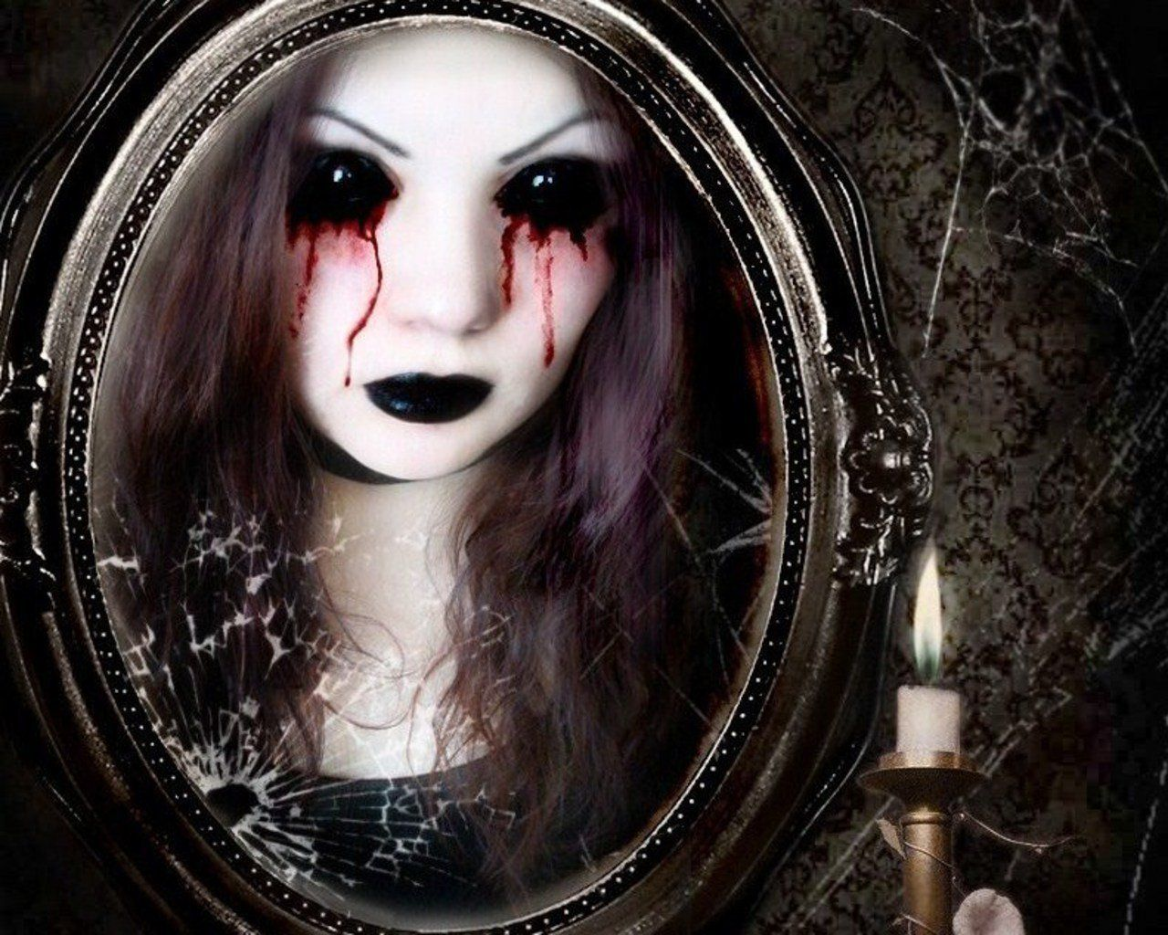 Face Bloody Mary ~ There she found herself, trapped as a face in a ...