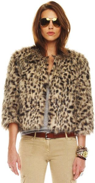 626de2a69331 Faux-fur Chubby Coat - Lyst Animal Print Fashion, Fashion Prints, Jungle  Print
