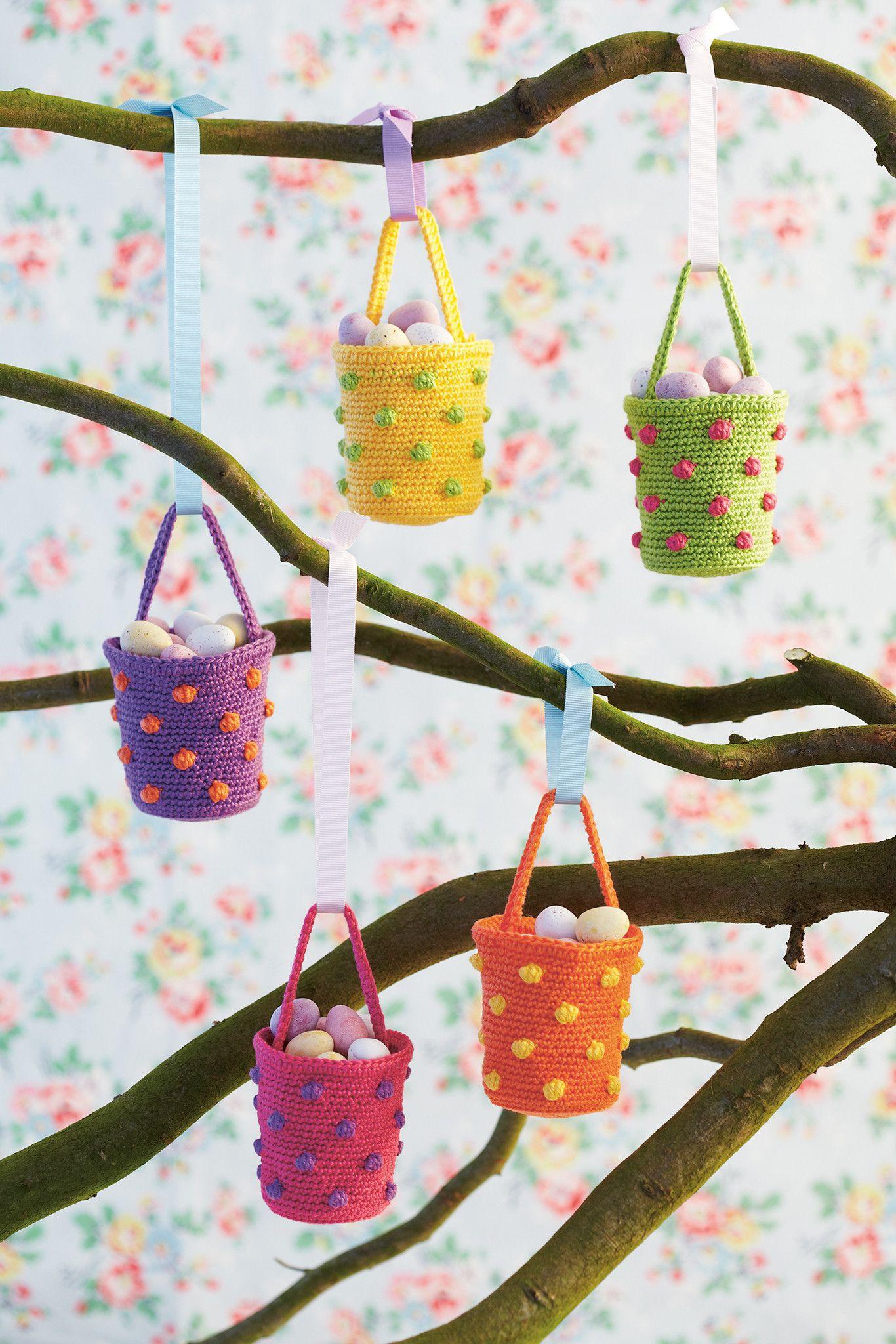 Spotty Basket Crochet Pattern | Pinterest