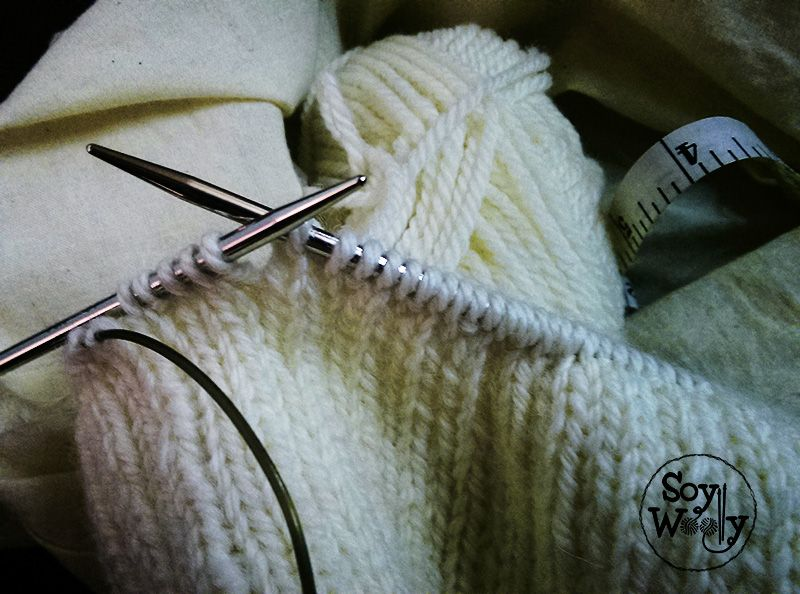 Tutorial gorro de punto paso a paso-Soy Wooley #knit #hat #elastic #stich