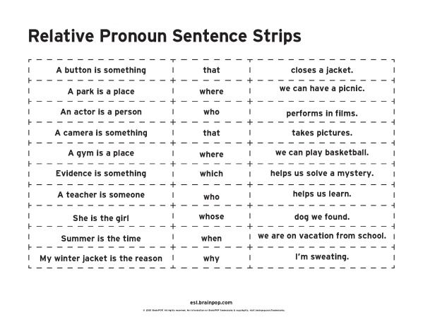 relative pronouns who whose whom that which where teach pronoun sentences. Black Bedroom Furniture Sets. Home Design Ideas