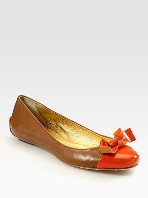 7a885ca9bce Kate Spade Tabby Leather Bow Ballet Flats  Caitlin Coco