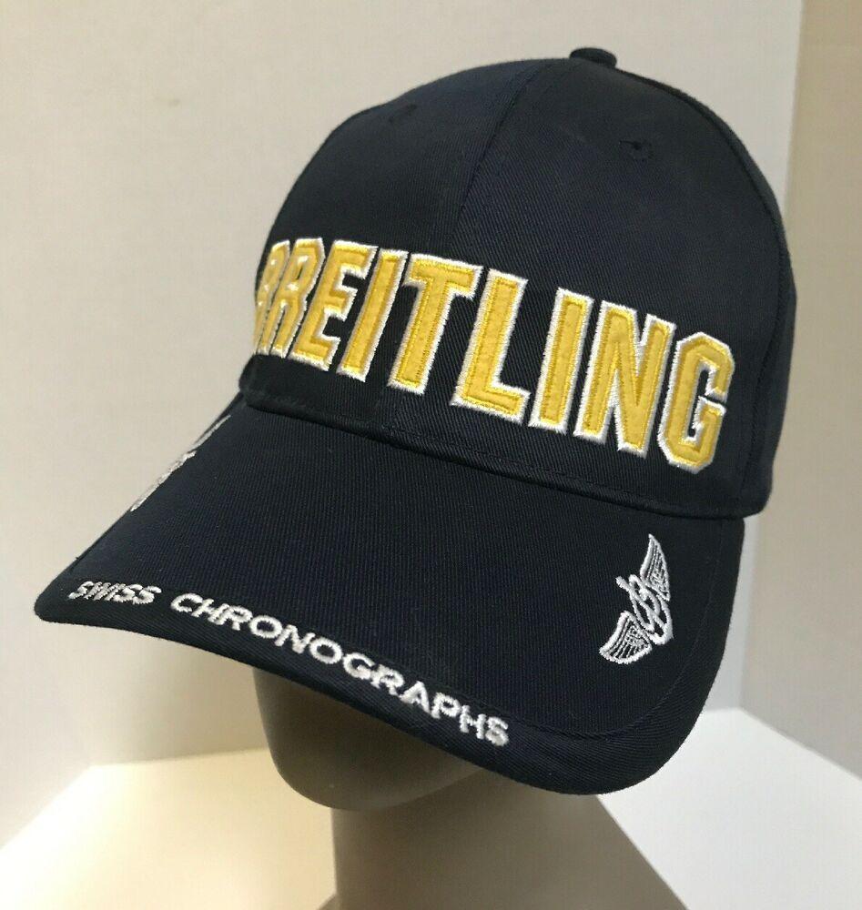 Breitling Since 1884 Stitched Navy Blue Snapback Baseball Cap Hat Swiss Watch Breitling Baseballcap Casua Blue Jacket Men White Baseball Cap Mens Brown Coat