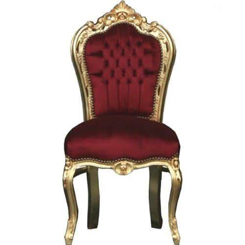 Stuhl Barock Armlehner Sessel Vintage Antik Stil Rokoko Blatt ...