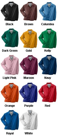 Lined Nylon Coaches Jacket