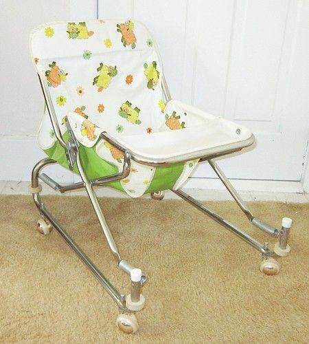 9666686466de Vintage Hedstrom Baby Toddler Walker Bouncer Feeding Chair Seat ...