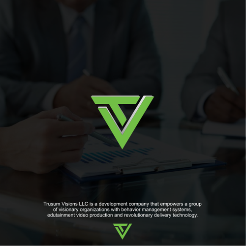 Billion Dollar Empowering Trusum Visions Logo Design Contest Ad Winning Ad Design Logo Kris Kuh Logo Design Contest Logo Design Custom Logo Design