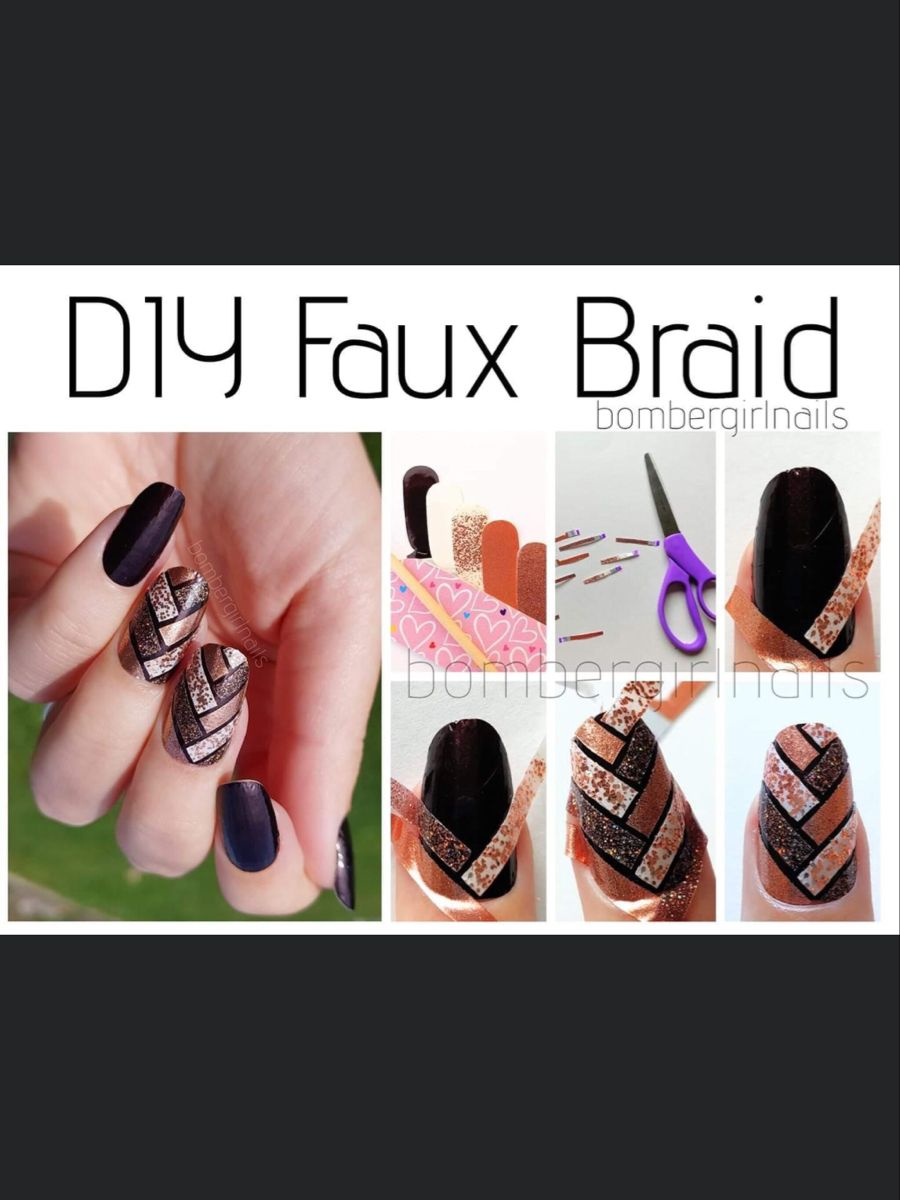 Pin By Mallory Mayoral On Color Street Inspired Color Street Nails Faux Braids Color Street