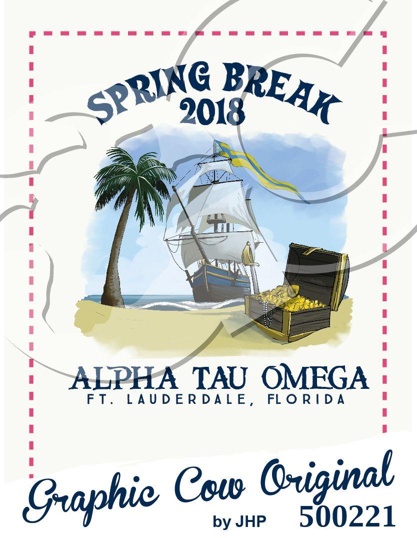 Spring Break Pirate Design Grafcow Island Beach Pirate Pirate