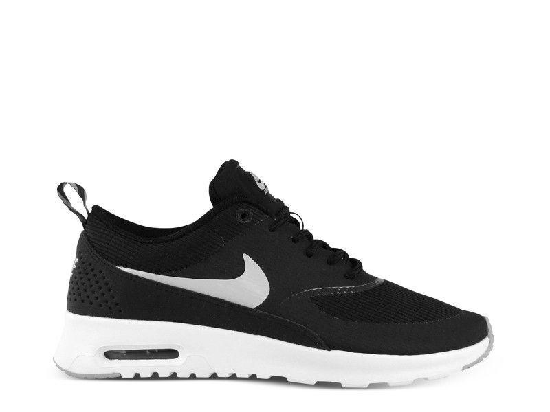 more photos 58c39 44d9d Women Nike Air Max Thea Print Black White Grey Anthracite Running 90