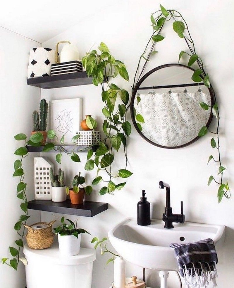 This Is An Elegant And Free Nature That Shows Off Its Boho Imaginative And Prescient While All Of These Antique Accents O Small Bathroom Decor Room Decor Decor