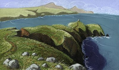 ABEREIDDI near St David's Head and an islet called the Blue Lagoon