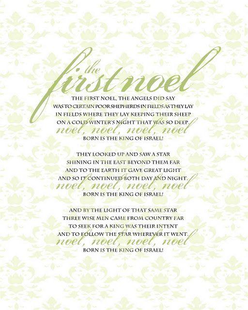 Light Of Christmas Lyrics.The First Noel Printable Holiday Ideas Christmas Lyrics
