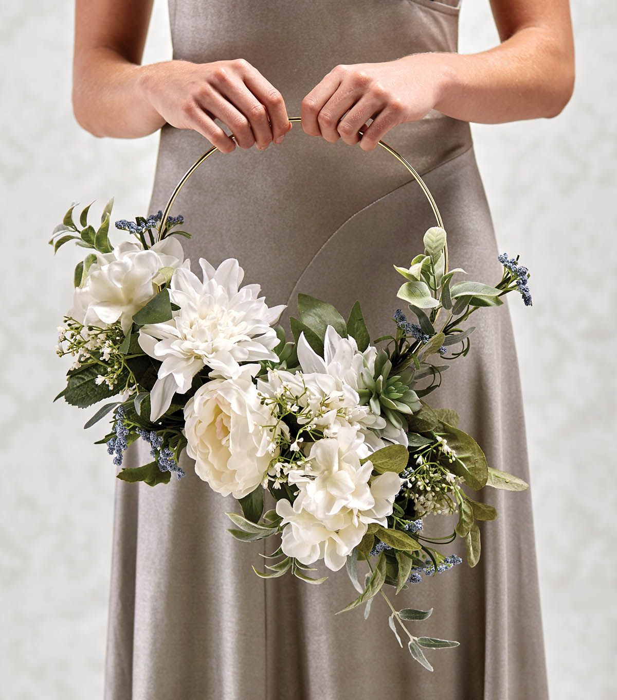 How To Make A Metal Ring Bouquet Bridesmaid Wreath Wedding