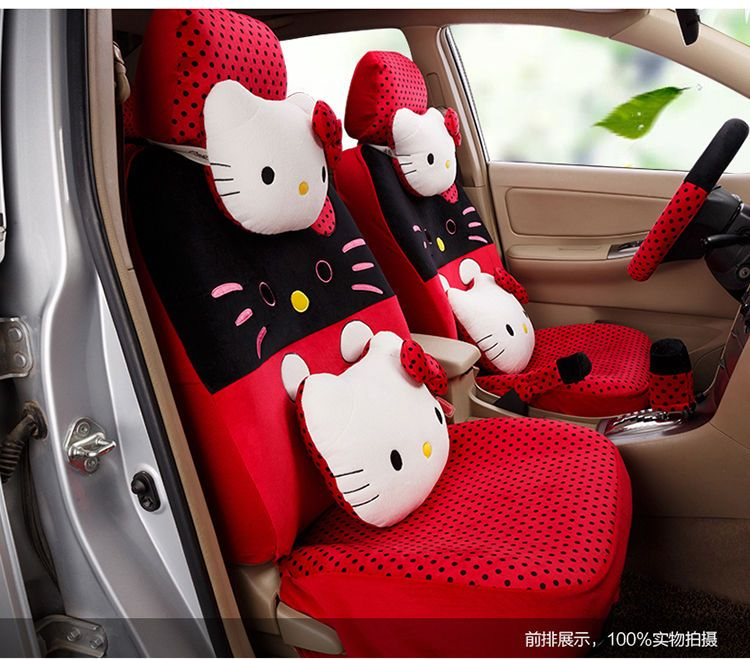 New Hello Kitty Car Seat Covers Cushion Accessories Set