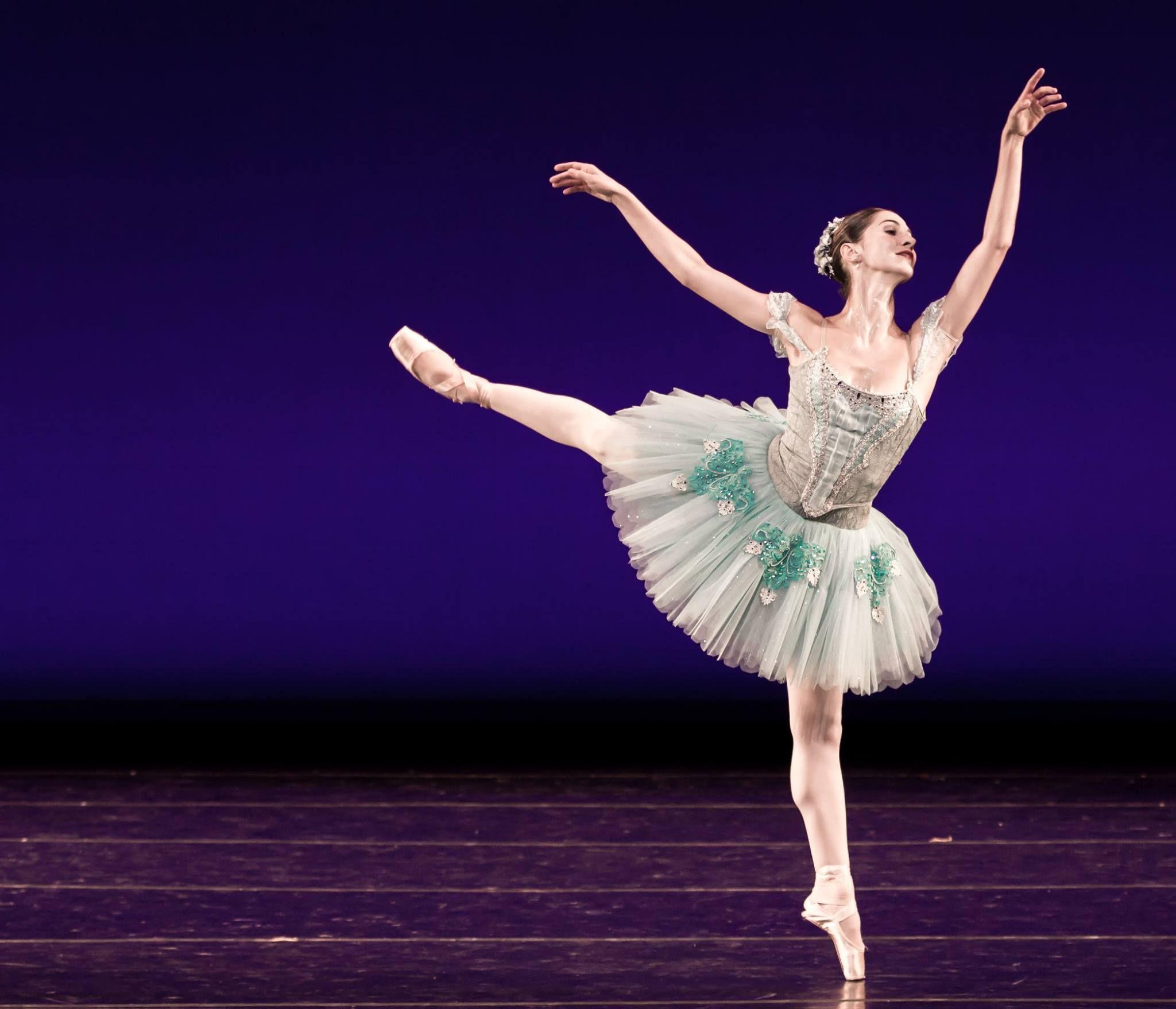 "Carolina Ballet #tututuesday Dancer Lilyan Vigo Ellis performing in ""Raymonda Variations."" Doesn't the sparkle shine bright?!   Photo by Denise Cerniglia"