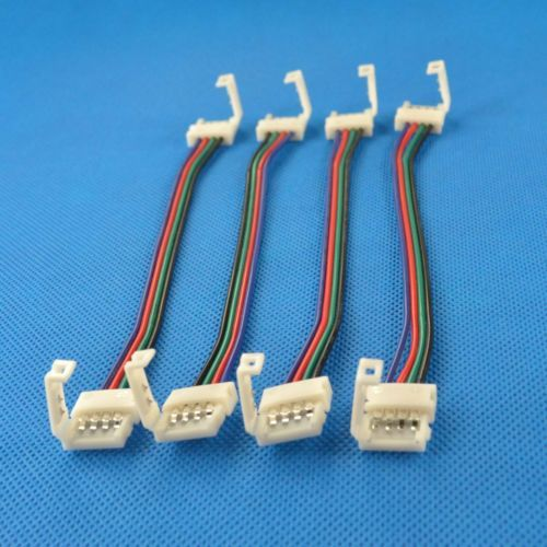 10 Pc 10mm 4 Pin Connector With Cable For 5050 5630 Rgb Led Strip Connector Led Strip Lighting Led Strip Strip Lighting