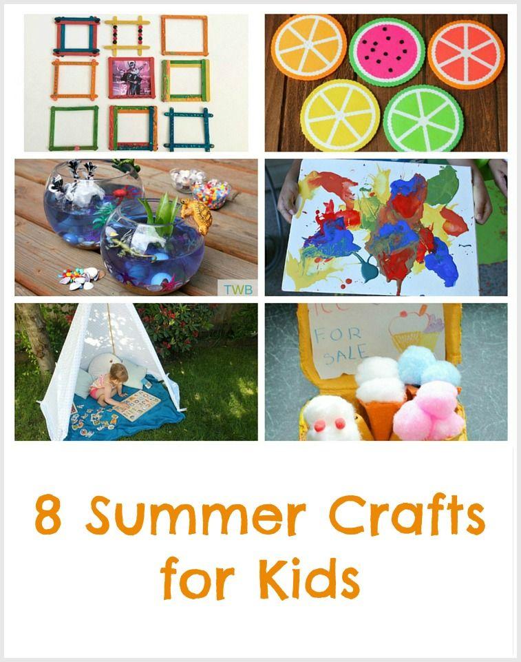 8 Fun Summer Craft Ideas Pinterest Summer Crafts For Kids Fun Summer Crafts Summer Crafts