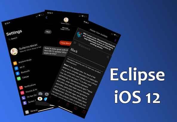 Eclipse Dark Mode Jailbreak Tweak for iOS 12 iPhone and