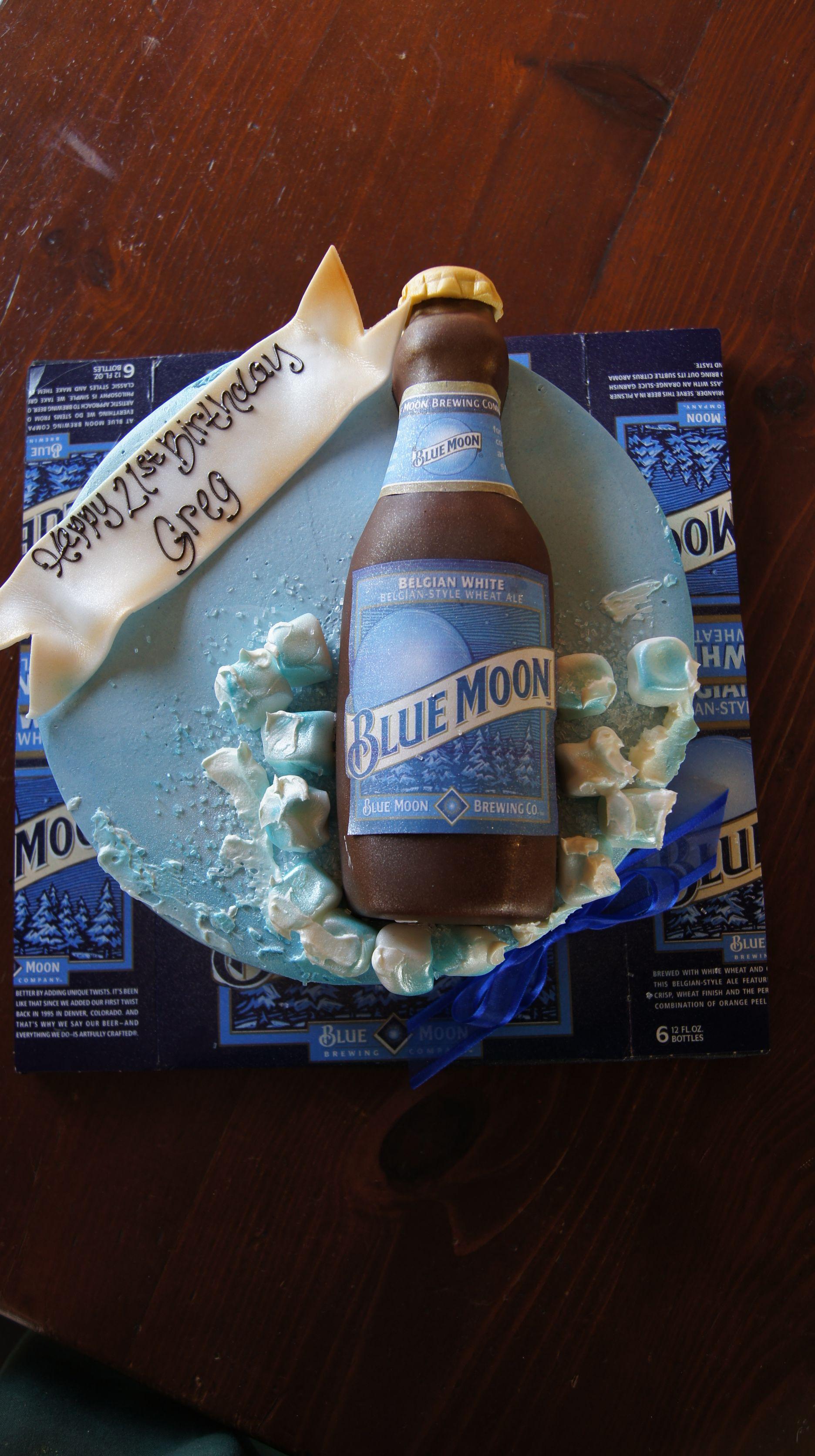 set of 4 Guy Mug Glasses cut from Blue Moon Beer Bottles