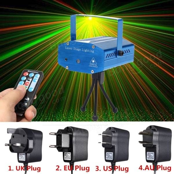 Mini R&G Auto/Voice Control LED Laser Stage Light Projector With ...