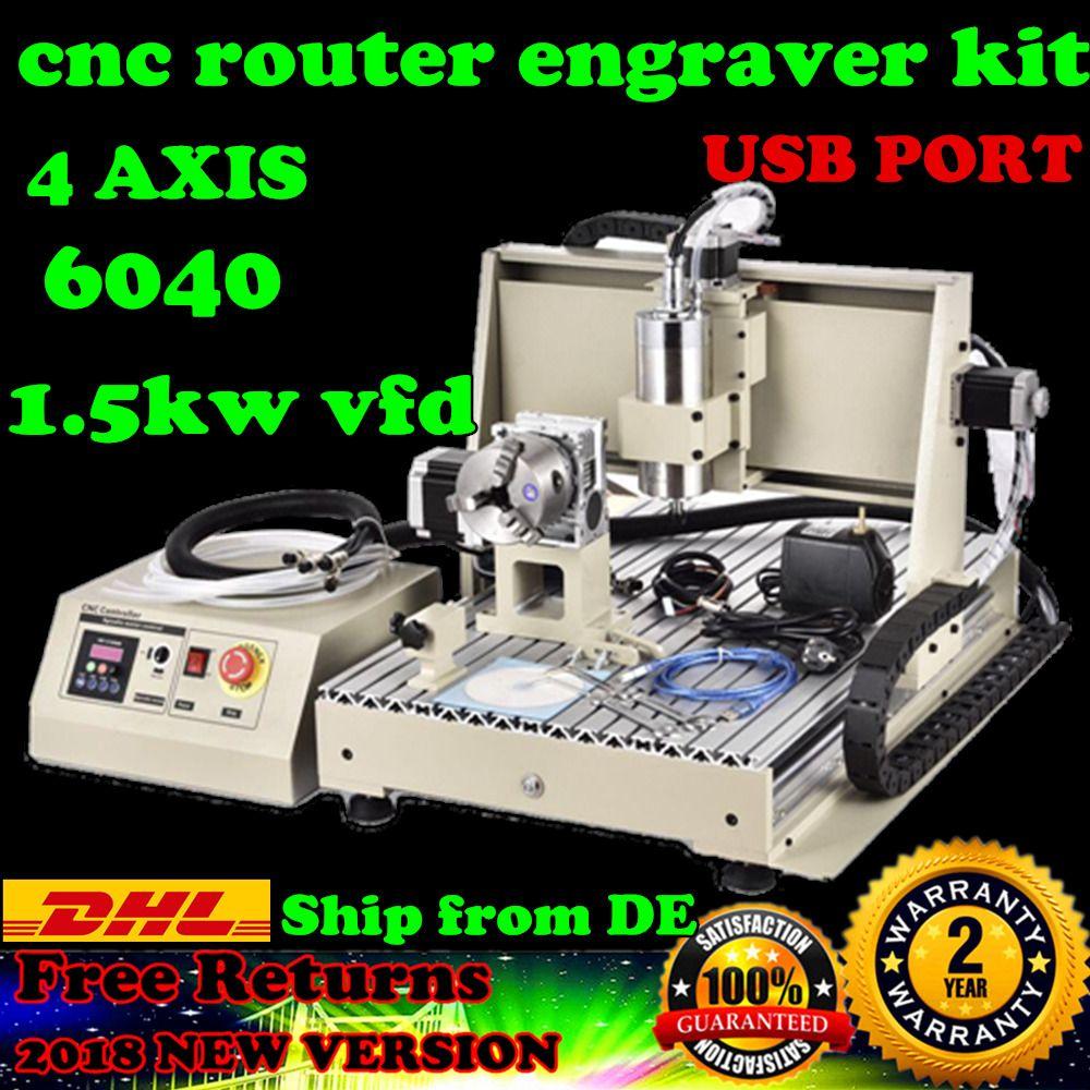 4 Achsen 6040 Desktop 3d Cnc Router Stecher FrÃsmaschine Bohren Pvcacrylholz Cnc Router Router Cnc