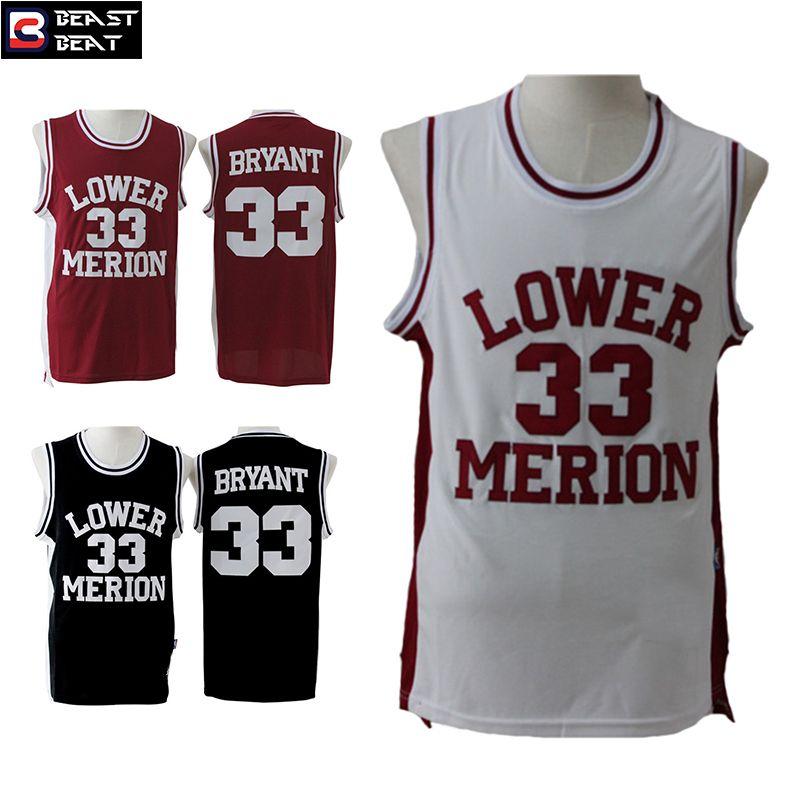 5c927ddcc ... Kobe Bryant 33 Lower Merion High School Basketball Jerseys Throwback  Cheap Original NBA Jerseys ...