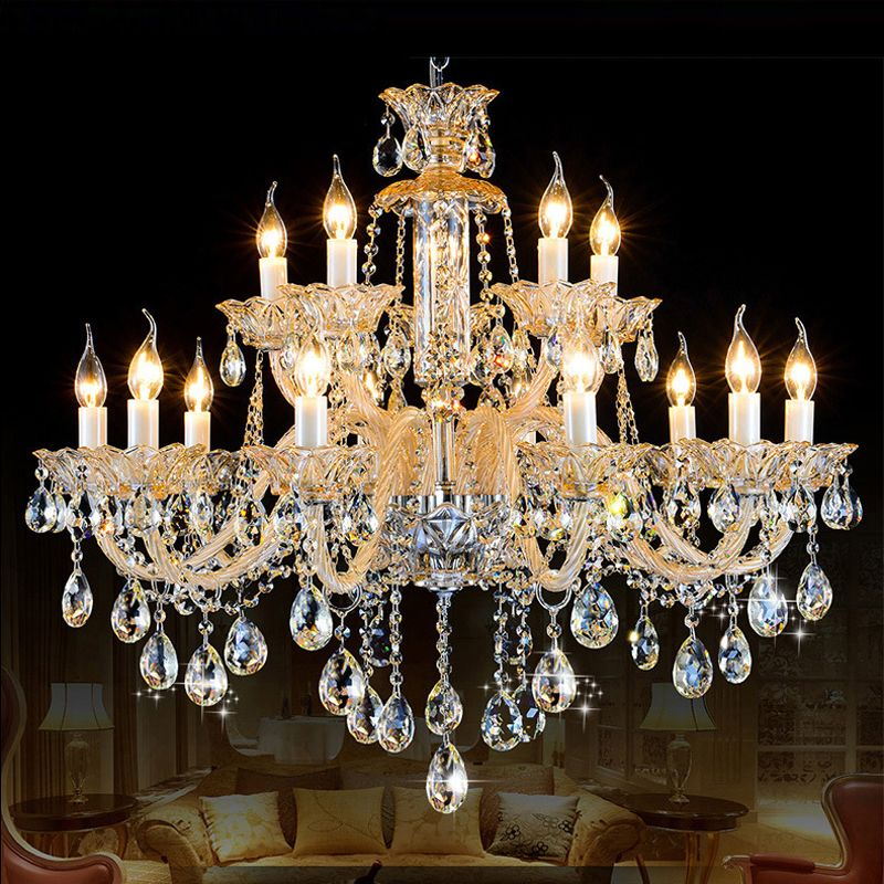 Antique Candle Chandeliers Champagne Crystal Chandelier Modern - Vintage chandelier crystals for sale
