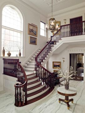 Connecticut Farm House traditional staircase
