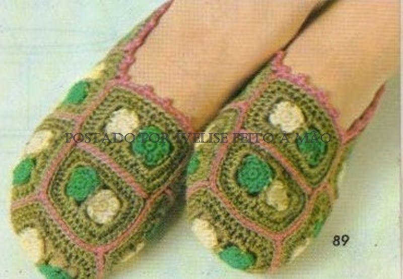 Hecho a mano Ivelise: Tejer de calzado para adultos! | zapatos ...