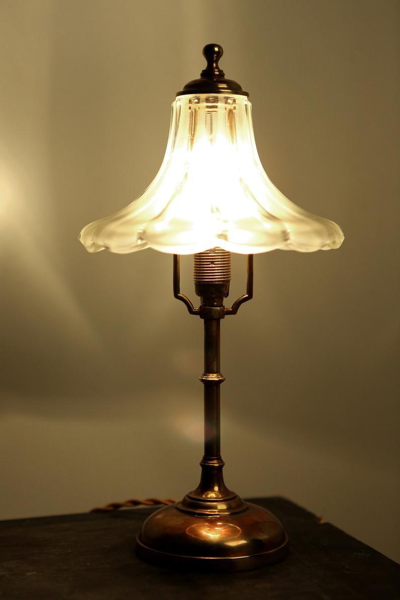 Antique Art Nouveau Table Lamp Bedside Table Lamp Desk Lamp Etsy Lamp Table Lamp Art Nouveau Lamps