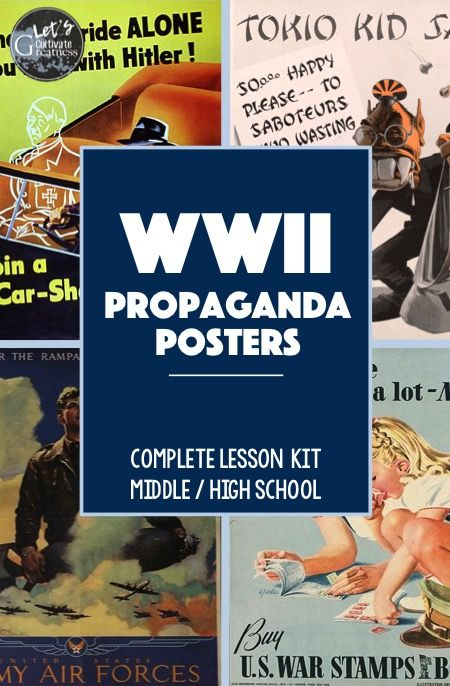 WWII Propaganda Posters Activities And Project APUSH It