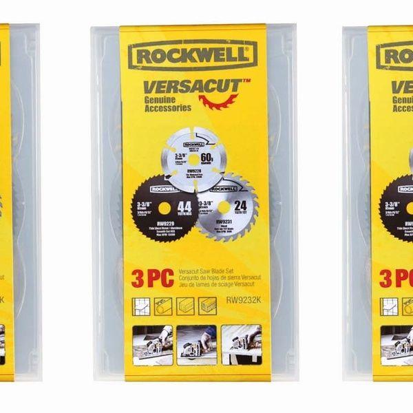 Rockwell Rw9232k Versacut 3 Piece 3 3 8 Inch Circular Saw Blade Set 3 Pack Circular Saw Blades Circular Saw Blade