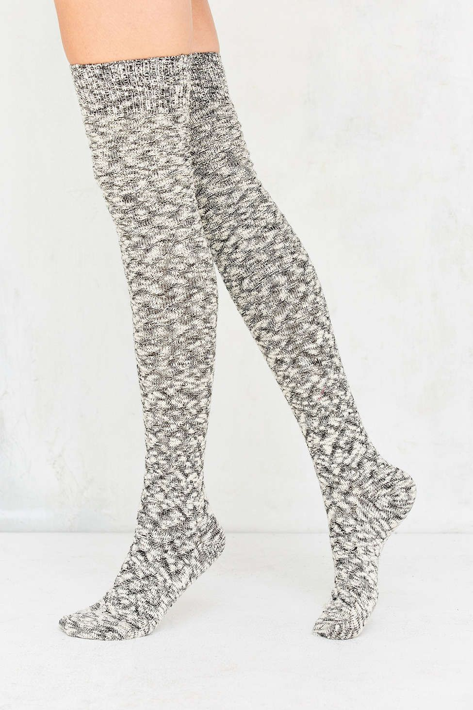 03bd58b1a72 Out From Under Chevron Stitch Thigh High Sock