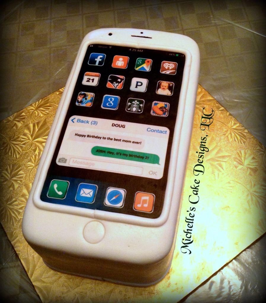 White iPhone6 cake Cakes We Make Pinterest Iphone6 and Cake