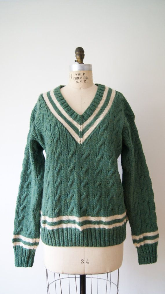 Vintage Mohair sweater 50s Turquoise sweater vintage V neck pullover classic 50s wool vintage pullover M/ L CO51x5nY