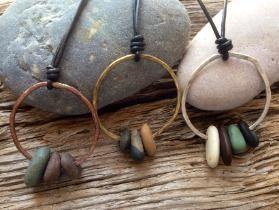 Photo of Cape Cod beach stone jewelry by KEM Designs