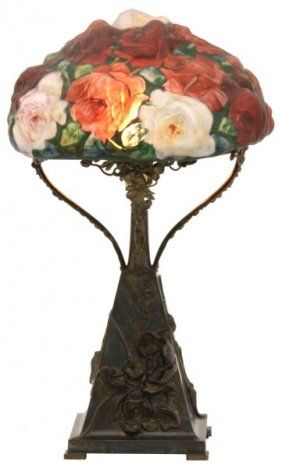 3 Color Pairpoint Puffy Rose Table Lamp