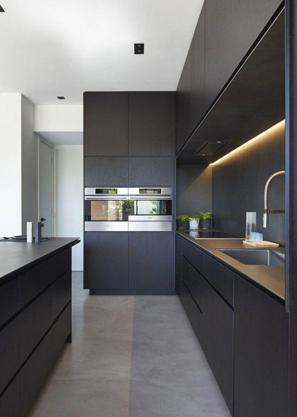 Est em alta tons escuros na cozinha o preto favorito quando a ...
