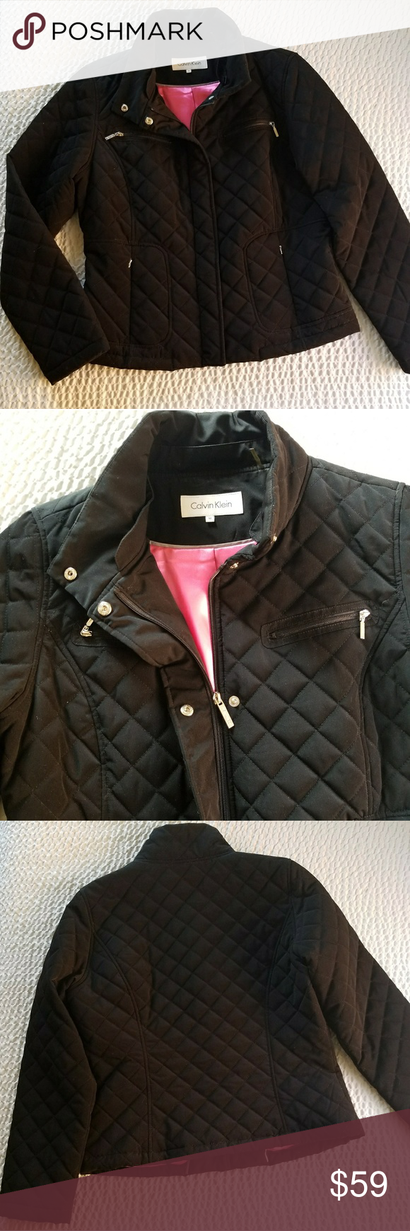 NWOT Calvin Klein Diamond Quilted Jacket | Clothes design ...