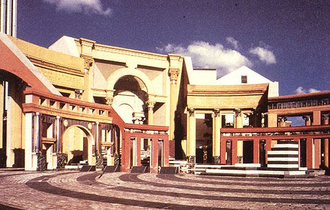 Famous Postmodern Architecture designedcharles moore,the piazza d'italia was one of charles