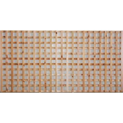 Aim Cedar Works Porte De Cloture Avec Treillis A Carreaux 4x8 Privacy Screen Home Depot Canada Privacy Screen Decorative Screen Panels Home Depot Canada