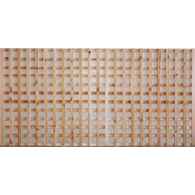 Aim Cedar Works Porte De Cloture Avec Treillis A Carreaux 4x8