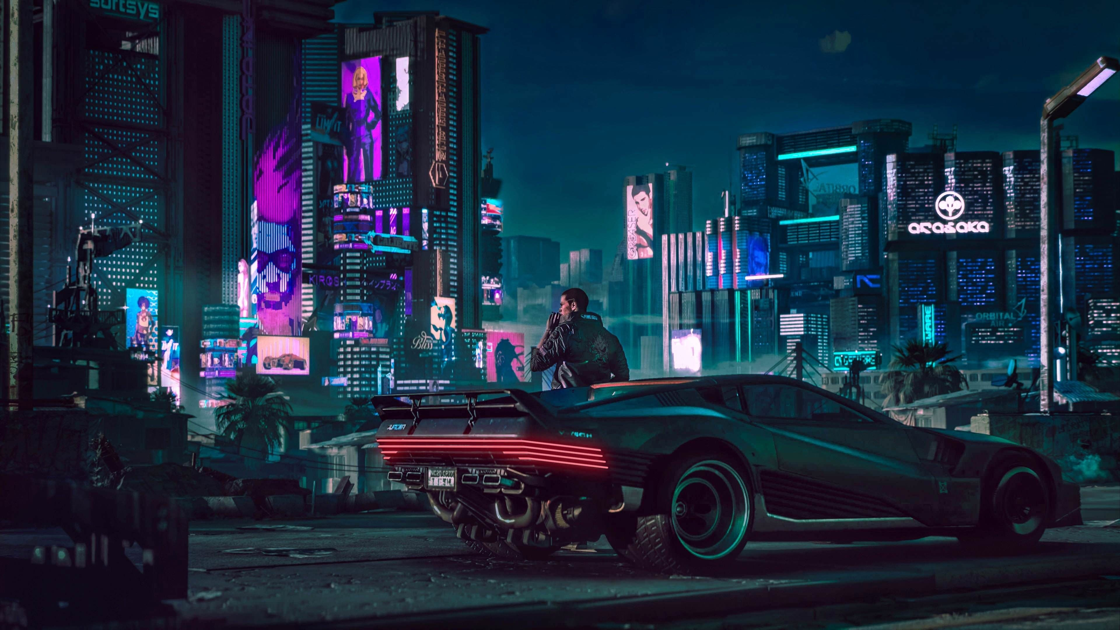 Cyberpunk Car 4k Wallpaper Futuristic City Cyberpunk 2077 Digital Wallpaper