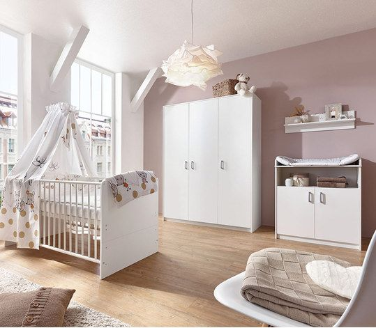 schardt kinderzimmer classic white mit 3 t rigem schrank bett wickelkommode. Black Bedroom Furniture Sets. Home Design Ideas